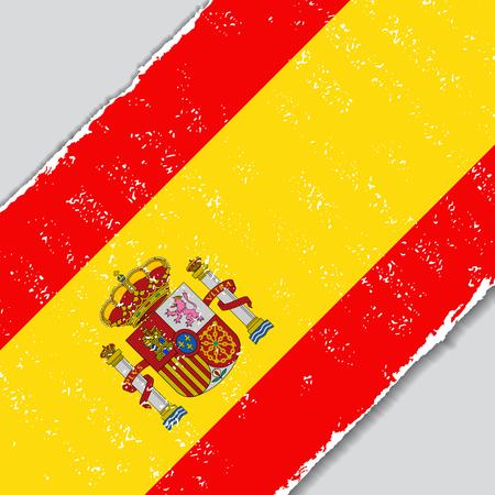 spanish flag: Spanish grunge flag diagonal background. Vector illustration.