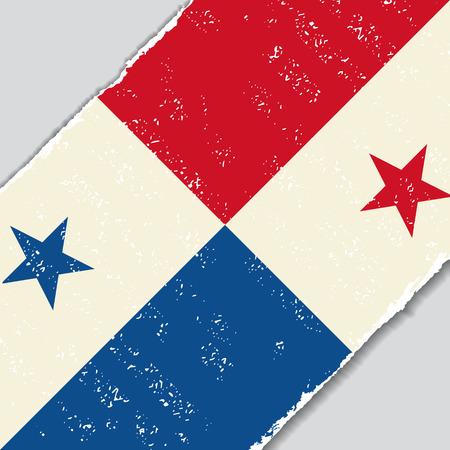 bandera de panama: la bandera del grunge Panamá fondo diagonal. Ilustración del vector. Vectores