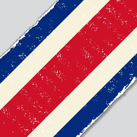 costa: Costa Rican grunge flag diagonal background. Vector illustration.