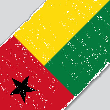 Guinea-Bissau grunge flag diagonal background. Vector illustration. Illustration