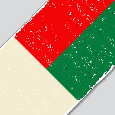 Madagascar grunge flag diagonal background. Vector illustration.