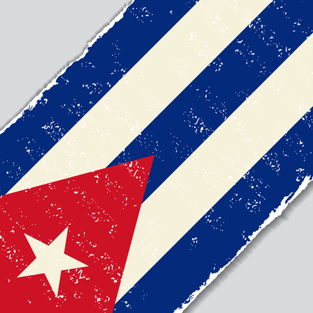 cuban flag: Cuban grunge flag diagonal background. Vector illustration. Illustration