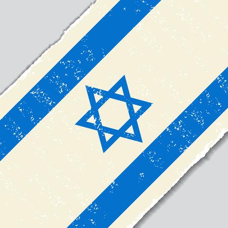 israeli: Israeli grunge flag diagonal background. Vector illustration.