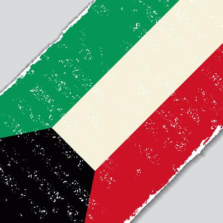 kuwait: Kuwait grunge flag diagonal background. Vector illustration.