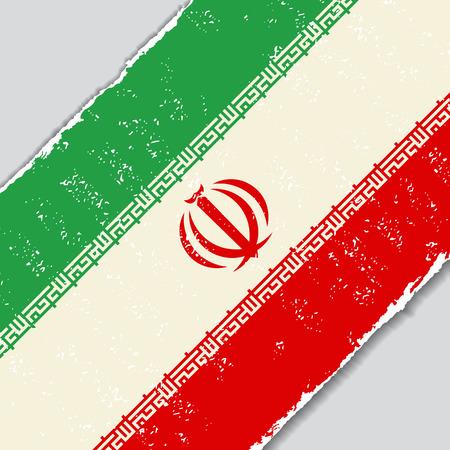 iranian: Iranian grunge flag diagonal background. Vector illustration.