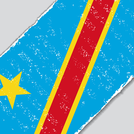 Congo: Congo grunge flag diagonal background. Vector illustration.