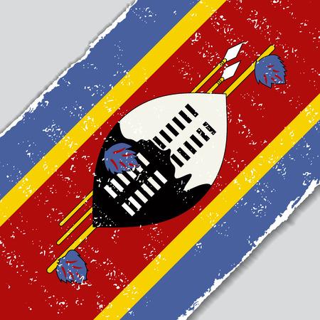 swaziland: Swaziland grunge flag diagonal background. Vector illustration.