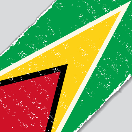 guyana: Guyana grunge flag diagonal background. Vector illustration.