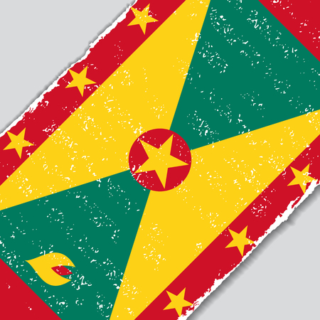 grenada: Grenada grunge flag diagonal background. Vector illustration.