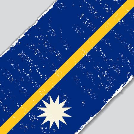 Nauru grunge flag diagonal background. Vector illustration.