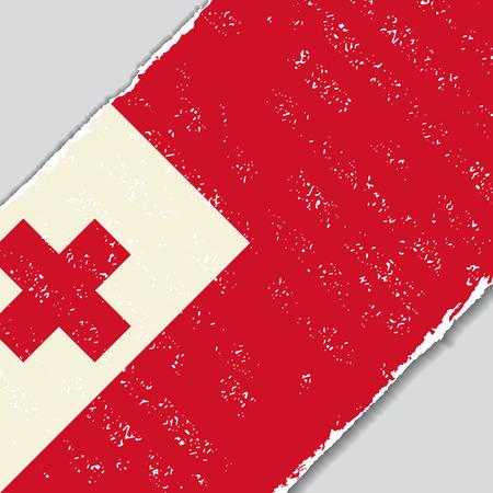 tonga: Tonga grunge flag diagonal background. Vector illustration. Illustration