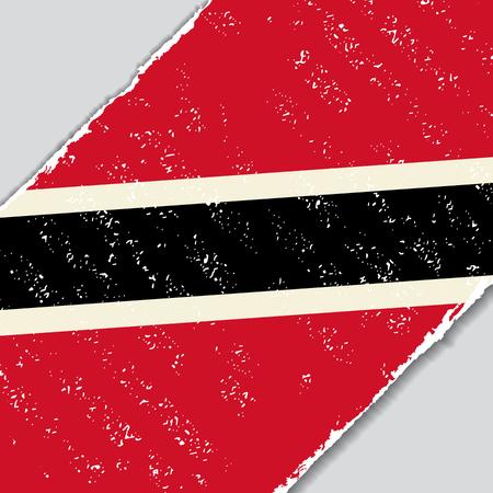 trinidad and tobago: Trinidad and Tobago grunge flag diagonal background. Vector illustration.
