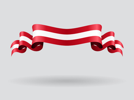 Austrian wavy flag. Vector illustration.