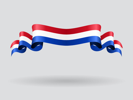 Dutch wavy flag. Vector illustration.