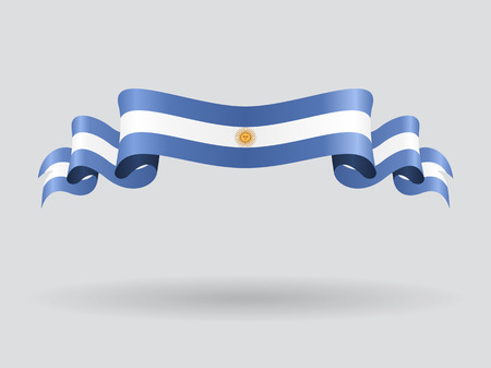 Argentinean wavy flag. Vector illustration. Vectores