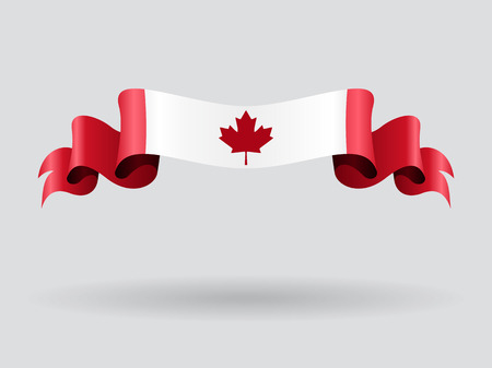 canadian flag: Canadian wavy flag. Vector illustration.