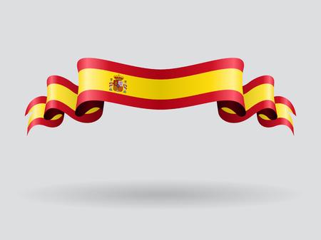 spanish flag: Spanish wavy flag. Vector illustration.