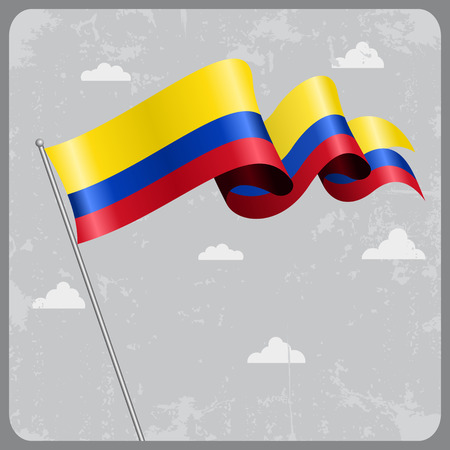 colombian: Colombian wavy flag.