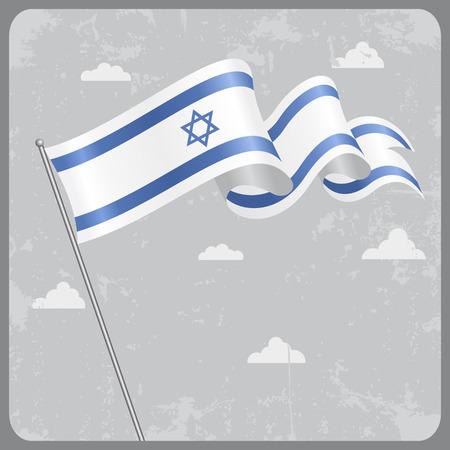 israeli: Israeli wavy flag.