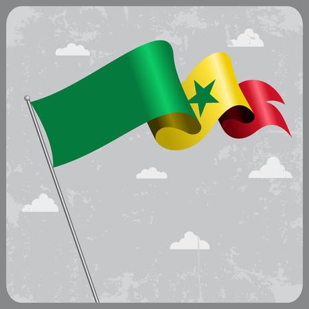 senegalese: Senegalese wavy flag.