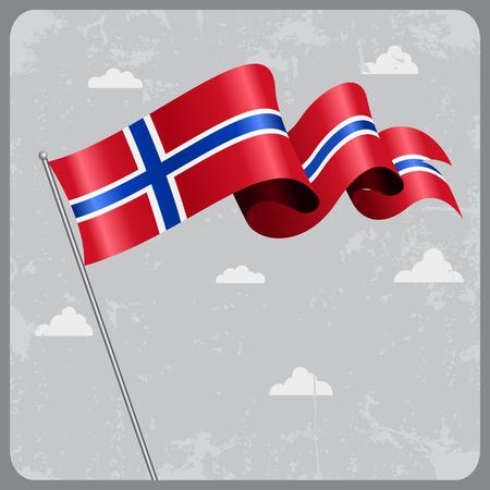 flag: Norwegian wavy flag. Illustration
