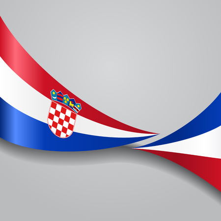 Croatian wavy flag. Vector illustration. Stock Vector - 77834955