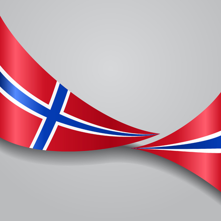Norwegian wavy flag. Vector illustration.