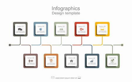 Timeline design template with place for your data. Vector illustration.