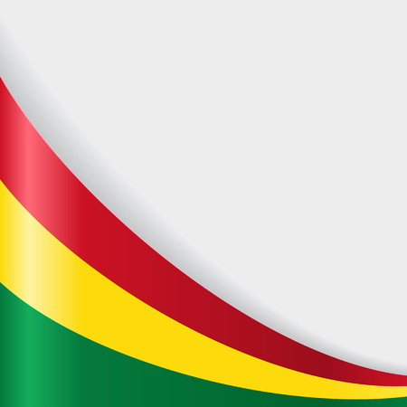 Bolivian flag wavy abstract background. Vector illustration. Vector Illustration