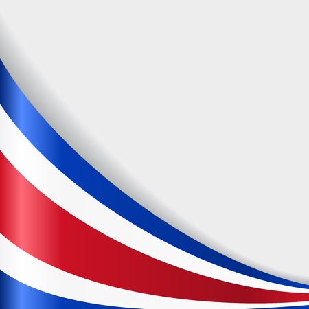 costa rican flag: Costa Rican flag background. Vector illustration.