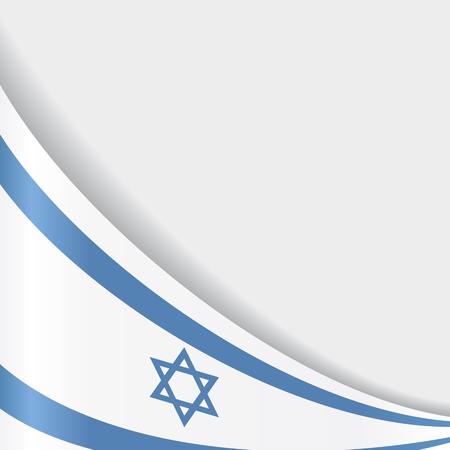 israeli: Israeli flag background. Vector illustration. Illustration