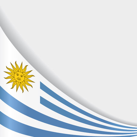Uruguayan flag background. Vector illustration.