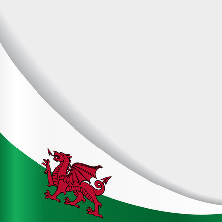 Welsh flag background. Vector illustration.