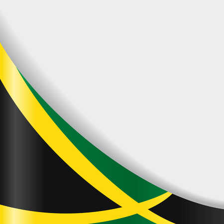 Jamaican flag background. Vector illustration.