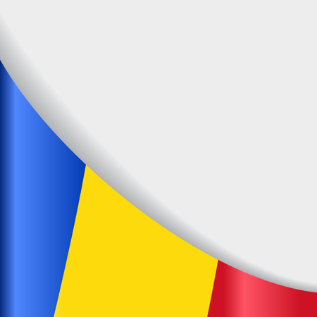 Romanian flag background. Vector illustration.