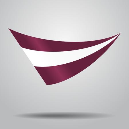 Latvian flag wavy abstract background. Vector illustration. Illustration