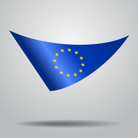 European Union flag background. Vector illustration. Illustration