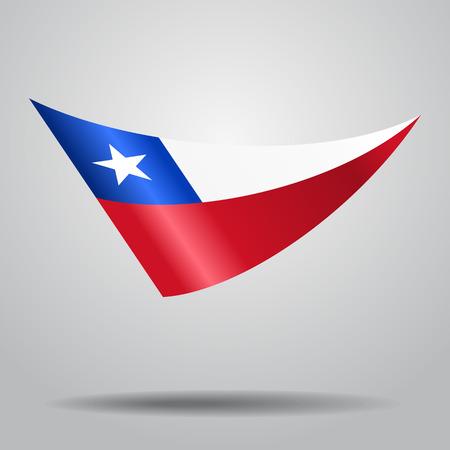 bandera chilena: Chilean flag background. Vector illustration. Vectores