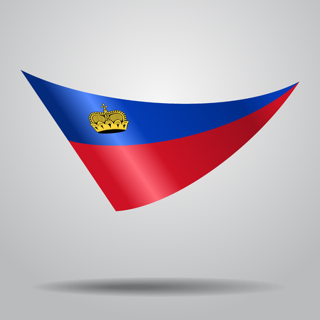 Liechtenstein flag background Vector illustration. Illustration