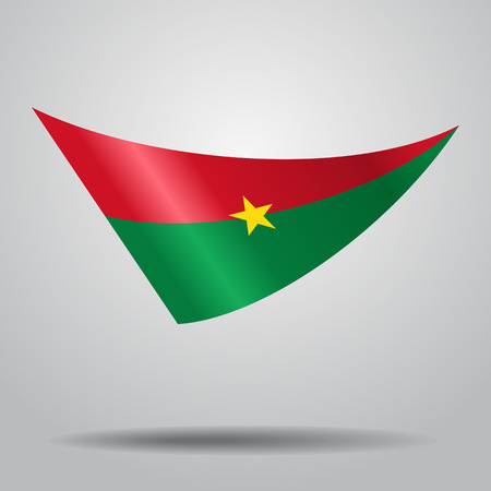 Burkina Faso flag background Vector illustration. Illustration