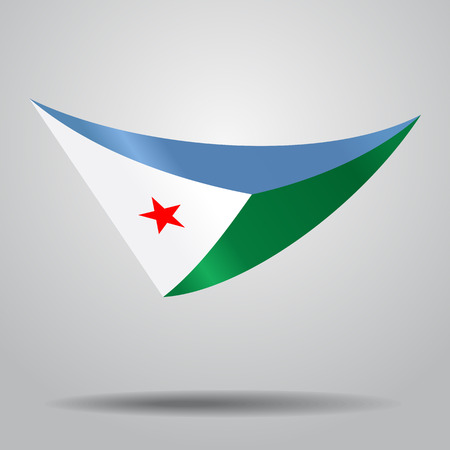 Djibouti flag background Vector illustration.
