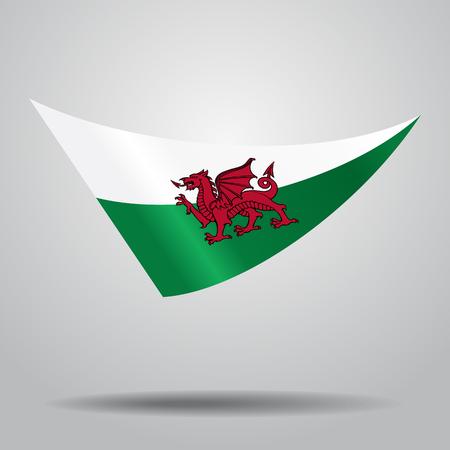 Bandiera gallese ondulato astratto. Illustrazione vettoriale