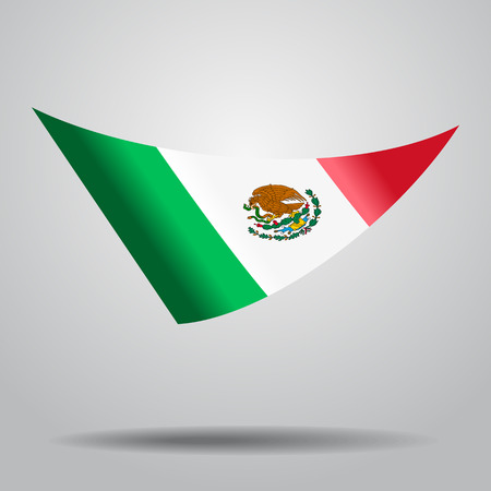 Mexican flag background. Vector illustration.