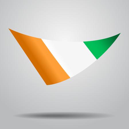 Ivorian flag wavy abstract background. Vector illustration. Illustration