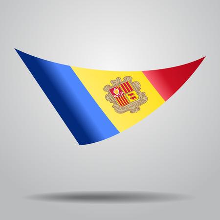 Andorran flag background. Vector illustration. Illustration