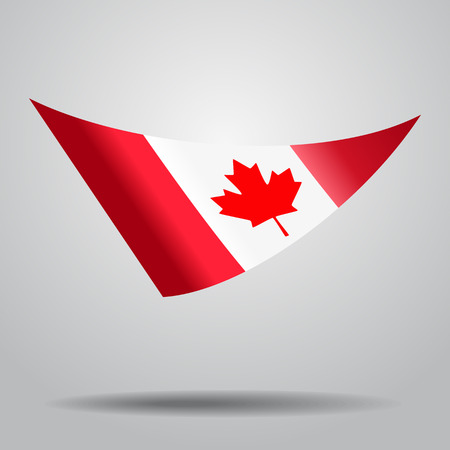 Canadian flag background. Vector illustration. Illustration