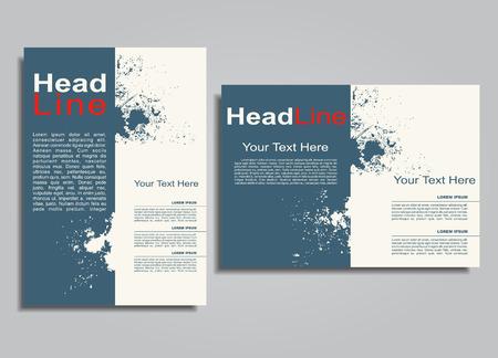 business card template: Book album brochure cover design template. Vector illustration.