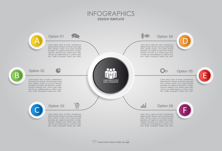 Infographic template. Vector illustration. Can be used for workflow layout. Çizim