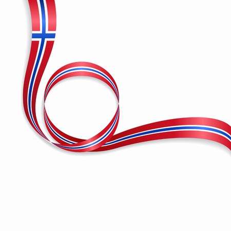 Norwegian flag wavy abstract background. Vector illustration. Illustration