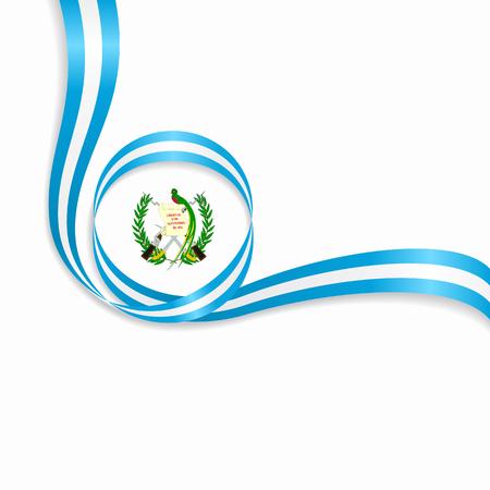 Guatemalan wavy flag icon. Vector illustration on white background.